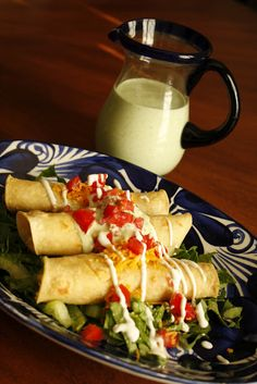 Purple Chocolat Home: Creamy Baked Chicken Taquitos
