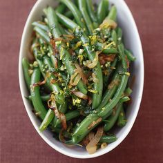 Green Beans with Caramelized Shallots and Gremolata   Recipes   Weight Watchers