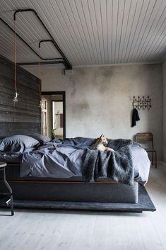Industrial Bedroom Design For Men