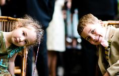 great kids shot at a wedding!
