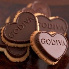 Godiva Chocolate Cookies... now that's a good heart!