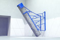 'Measure' Sculptures made from Metal & Concrete by artist Fabrice le Nezet