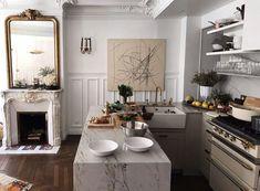 Home Interior Salas .Home Interior Salas Apartment Interior, Parisian Decor, Home Remodeling, Home Decor, House Interior, Modern French Kitchen, Parisian Apartment Decor, French Apartment, Parisian Interior