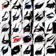 Goth Eye Makeup, Punk Makeup, Gothic Makeup, Grunge Makeup, No Eyeliner Makeup, Makeup Art, Emo Eyeliner, Makeup Inspo, Makeup Inspiration