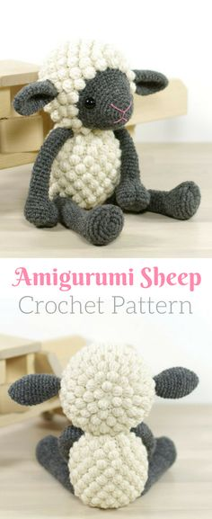 Sooo cute! Love this little crocheted sheep! #afflink #crochet #amigurumi