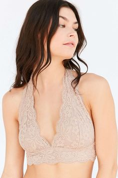 ba89df6e8a95f Out From Under Lace Halter Bra