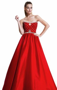 Discount 2015 Retro A-Line Pageant Dresses Strapless Beaded Ball Gowns With Sparkle Crystals Backless Floor-Length Evening Dresses BL17 Online with $178.02/Piece | DHgate