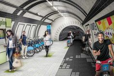 Award-winning design to transform disused Tube tunnels into underground cycle routes.