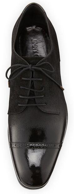 Jimmy Choo Prescott Cap-Toe Lace-Up Shoe