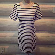 Cute striped 100 o/o cotton dress Cute comfortable casual dress Dresses Midi