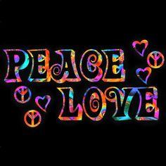 ☮ American Hippie Art ☮ Peace Sign  & Love