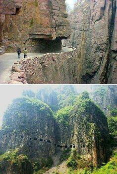 'The World's Scariest Roads'  - Guoliang Tunnel Road, China. Click on the image to see the world's most #dangerous roads...