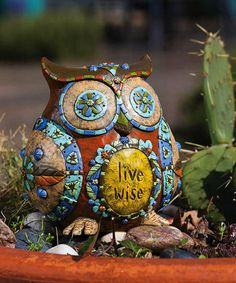 'Live Wise' Owl Statuary