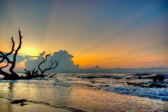 Sunrise on Bone Yard Beach, located on Bulls Island in SC.