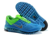 Cheap Nike Air Max 2013 Running Shoes Blue Green Online - Best Nike Shoes