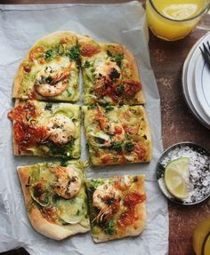 Notions & Notations of a Novice Cook - Making Shrimp Scampi Pizza with Parsley Pistou Sauce