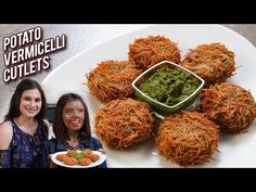 Potato Vermicelli Cutlet - Aloo Vermicelli Cutlets - Snack Recipe - Women's Day Special With Ruchi - Tasty Food Potato Cutlets, Yummy Snacks, Snack Recipes, Healthy Recipes, Vegetarian Breakfast Recipes Indian, Vermicelli Recipes, Catfish Recipes, How To Make Potatoes, Kitchens