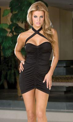 #clubwear, Sexy Lingerie Halter Top Mini Dress, $17.00