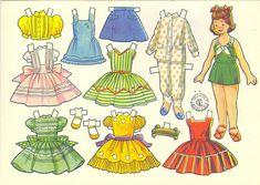 Muñequitas - Isabel Lopez - Álbumes web de Picasa Cardboard Crafts, Paper Crafts, Paper Dolls Printable, Vintage Paper Dolls, Album, Paper Roses, Miniture Things, Doll Accessories, Paper Art