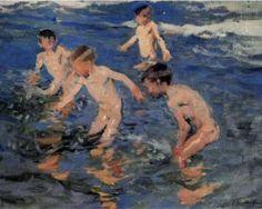 Bathing - Joaquín Sorolla
