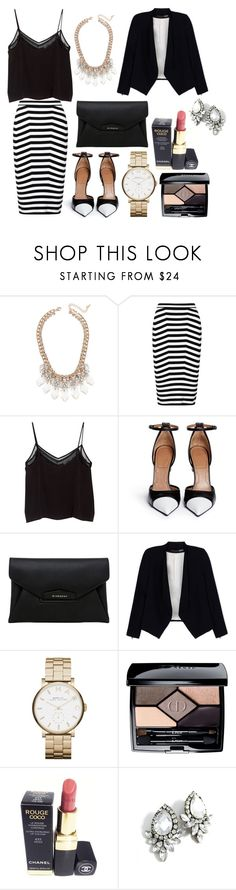 """""""Untitled #391"""" by oychanel ❤ liked on Polyvore featuring Jeweliq, Alexander Wang, MANGO, Givenchy, Alice + Olivia, Marc by Marc Jacobs, Christian Dior and Chanel"""