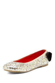 Miss Suri Glitter Bow Back Ballet Flat on HauteLook