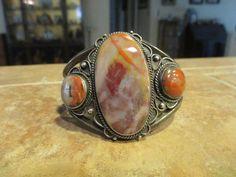 Fine OLD Fred Harvey Era Navajo Sterling PREMIUM Petrified Wood AGATE Bracelet    eBay