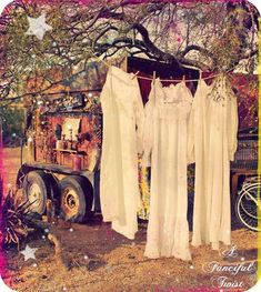 vintage inspired gypsy love..........really like the nightgowns!! But not the rolling house
