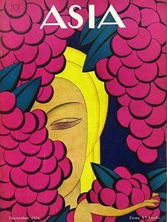 Vintage Asia magazine cover - by illustrator Frank McIntosh (Dec 1926)
