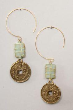 Coin Loop Earrings