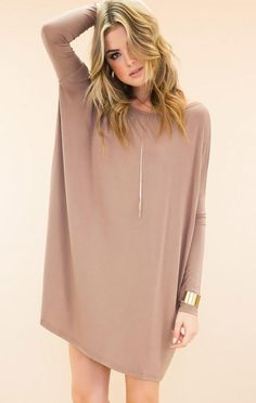 PIKO Everything Dress in Light Tan from Lucky Duck Boutique. Saved to Things I want as gifts. #tunicdress #piko #pikotop.