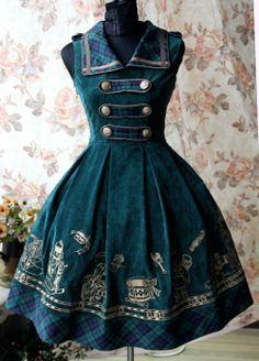 Cotton Velvet Embroidery Lolita Jumper