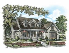 Country House Plan with 1617 Square Feet and 3 Bedrooms from Dream Home Source | House Plan Code DHSW75430