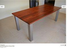 'Augusta' jarrah and sless steel - Jarrimber furniture