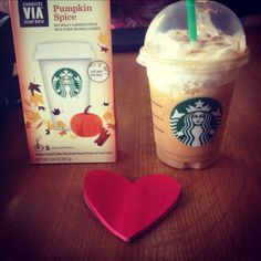 In case you forgot what love looks like. ❤ Starbucks Coffee Cafe PumpkinSpice Love.