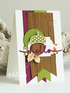 Stampin' Cards and Memories: Acorny Thank You, Acorn Builder Punch, Baker's Box Thinlits