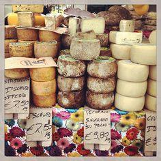 Cheese at the local market, Alghero, Sardinia