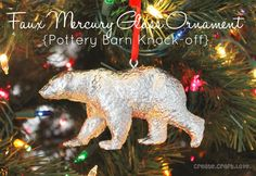 Stop by and see how I made my own PB knockoff Faux Mercury Glass Ornament with a little spray paint!