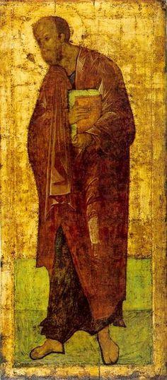 """"""" l'Apôtre Paul """" 1410,  Andrei Roublev."""