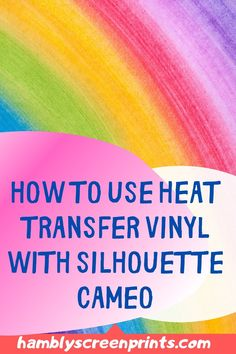 The most suited method to create Silhouette Cameos is by utilizing Heat Transfer Vinyl. Hambly Screen Prints gives clear step-by-step instructions on how to go about this process. Gather all the listed materials you need for the project. Follow our directions on how to correctly cut and properly apply the Heat Transfer Vinyl to get the desired results. You will be happy with the results if you follow our guide. Download here… #heattransfervinyl #htv #silouhettecameos Vinyl Art, Vinyl Decals, Glitter Heat Transfer Vinyl, Cricut, Vinyl Shirts, Vinyl Cutter, Mirror Image, Vinyl Projects, Vinyl Designs
