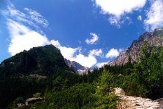 from Hrebienok to Skalnate Pleso … July 1998 - Hrebienok,Vysoke Tatry,Slovakia - Mountains,Trees