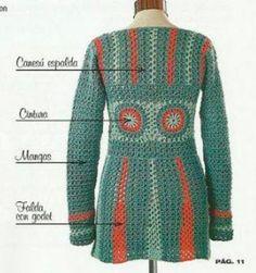 Sueter Crochet corte princesa para todos los talles / Paso a paso   Todo crochet