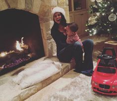 Pin for Later: See How All Your Favorite Celebrities Got in the Holiday Spirit  Selena Gomez spent Christmas with a favorite family member, her godson Aiden.