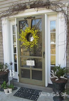 Love the screen door. Tour this woman's cute home! So many amazing, homey, touches in this home. Love all the ideas.