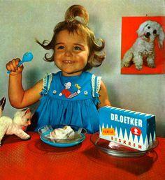 1962, Dr. Oetker Werbefoto, Eiscreme