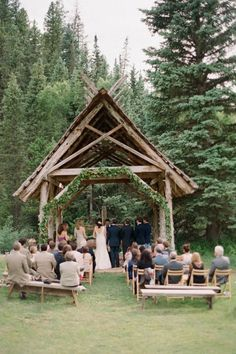 I would really love to have a small simplistic wedding like this, but realistically it's not possible. outdoor wedding Colorado Wedding at Dunton Hot Springs by Jenna Walker Photographers Places To Get Married, Got Married, Getting Married, Forest Wedding, Rustic Wedding, Dream Wedding, Wedding Ideas, Paris Wedding, Garden Wedding