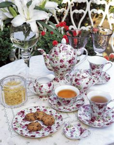 The reason for this pin is that in the play the tea set is emphasized and this is a Victorian tea set which would fit the time span and style of the play.