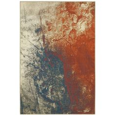 """Oriental Weavers Pasha 1334E 1'10"""" x 3' Area Rug (3.350 RUB) ❤ liked on Polyvore featuring home, rugs, no color, teal blue rug, abstract rug, abstract area rugs, oriental weavers rugs and oriental weavers"""