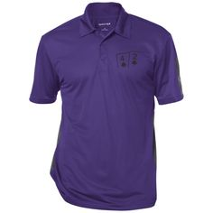 Performance Textured Three-Button Polo (4s 2s on front)