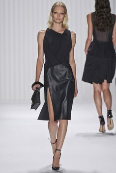 @J. Mendel #catwalk #MBFWNY #SS_2013 #trends #leather #in